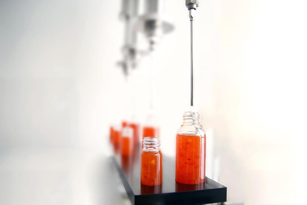 Anwendungsbeispiel Abfüllung von feststoffhaltiger Asia-Sauce